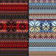 Pattern Nordic Folk Knitted Ornamental Multiclor Striped Background — Stock Photo