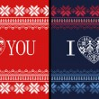Royalty-Free Stock Photo: Nordic Traditional Ornamental Valentine\'s Day