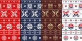 Nordic Traditional Snowflacke Pattern — Stock Photo