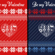 Stok fotoğraf: Nordic Traditional Ornamental Valentine's Day