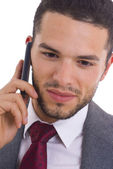Business man with cellphone — Stock Photo
