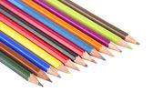 χρωματιστά μολύβια απομονωθεί — Φωτογραφία Αρχείου