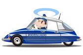 Politieauto van frankrijk — Stockvector