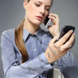 Business woman on the phone, concept — Stock Photo