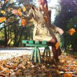 Autumn womhappy — Stock Photo #34136301