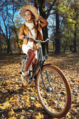 Fall bike trip — Stockfoto