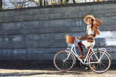 Fall bike ride — Stock Photo