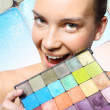 Rainbow palette of shadows — Stock Photo