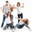 Group of crazy young people — Stock Photo #35670671