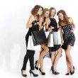 Group of girls looking at shopping — Stock Photo #35722709