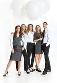 Success of corporate employees — Stock Photo