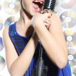 Stock Photo: Little singer