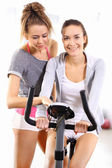 Exercise bike training — ストック写真