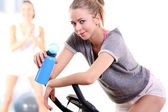 Resting after a hard workout on the bike — Stock Photo