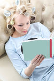 Relax with a nice book — Stock Photo