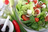 Colorful vegetable salad. — Stock Photo