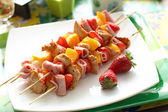 Colorful skewers — Stock Photo