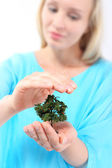 Respect the green. I care about the environment - green to me — Stock Photo