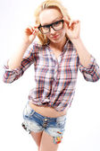 Corrective lenses - a fashion accessory styling — Stock Photo