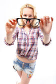 Glasses - a stylish addition — Stock Photo