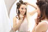 Hairstyling. Changing colors — Stock Photo