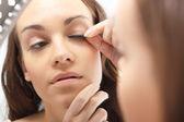 Plastics  eyelashes, flirty look. — Stock Photo