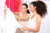 Women in clothing boutique — Stock Photo