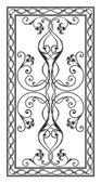Patrón para las tapas de una mesa rectangular — Vector de stock