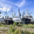 Stock Photo: Bankrupt shipyard in Gdansk