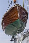 Rescue boat sailing sea — Stock Photo