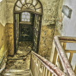 Stairway in an abandoned and ruined building — Stock Photo