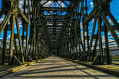 The historic bridge over the Vistula River in Tczew — ストック写真