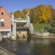 Stock Photo: The historic, small hydro power plant