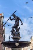 Neptune Fountain in Gdansk, Poland — Stock Photo