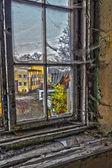 Damaged window — Stock Photo