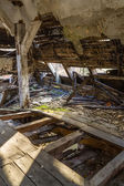 Collapsed ceiling — Stockfoto