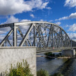 Steel railroad bridge — Stock fotografie
