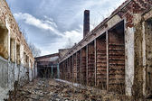 The abandoned factory — Foto de Stock