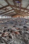 Destroyed brick factory — 图库照片