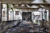 Destroyed barn — Stock Photo
