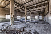 Destroyed warehouse — Stock Photo
