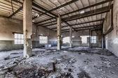 Destroyed warehouse — Stock Photo