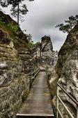 Rocks in Bastei — Stock Photo