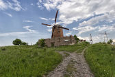 Abandoned mill wind — Stock Photo