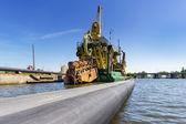 Port dredging — Stock Photo