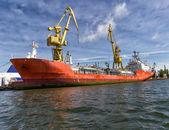 Załadunek statku — Zdjęcie stockowe