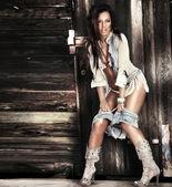 Sexy brunette lady posing. — Stock Photo