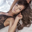 Stock Photo: Sensual photo of beautiful brunette.