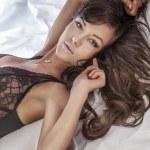 Sensual photo of beautiful brunette. — Stock Photo