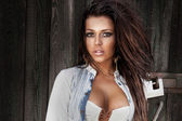 Attractive brunette woman posing — Stock Photo